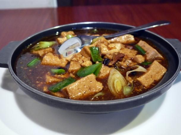hunanese style tofu at taiwan new paradise banana
