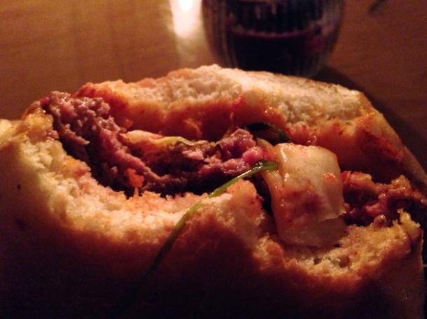 kimchi burger at kimchi cult