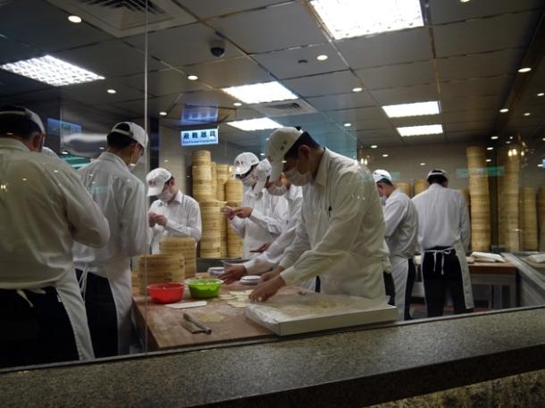 kitchen at din tai fung taipei 101