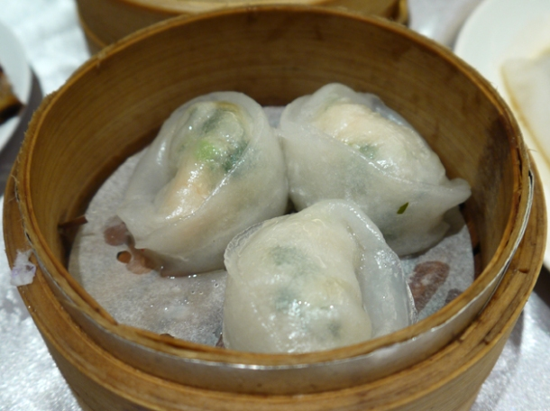 prawn and chive dumplings at citystar taipei