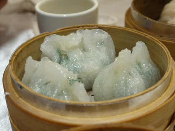 vegetable and peanut dumplings at citystar taipei