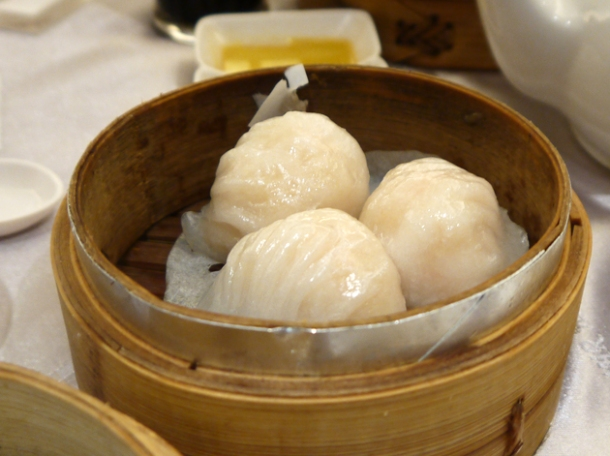 steamed prawn dumplings at citystar taipei