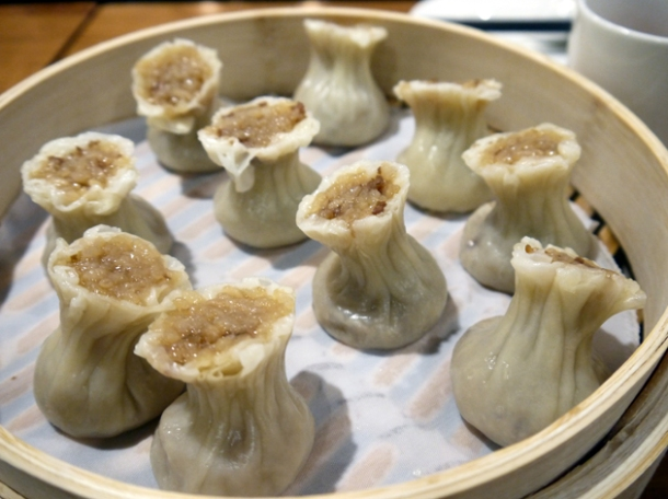 pork and glutinous rice dumplings at din tai fung taipei 101