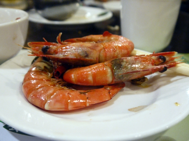 prawns at tian xiang huwei hot pot
