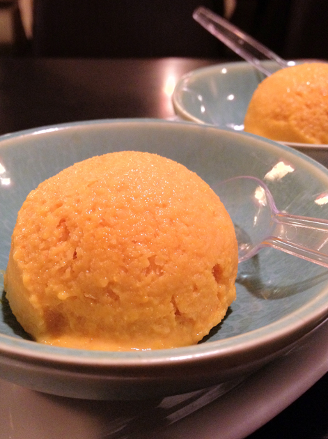 pumpkin ice cream at tu hsiao yueh