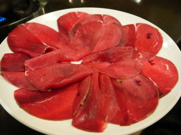 raw goose heart at tian xiang huwei hot pot