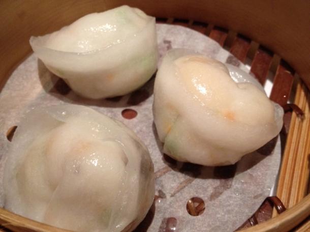 scallop dumplings at pearl liang