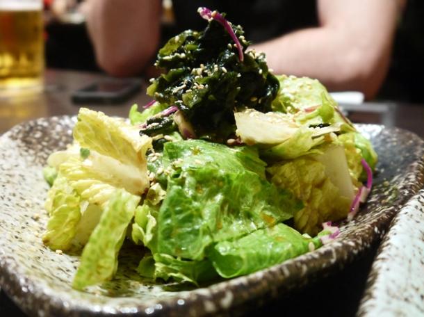 seaweed salad at moe yakiniku taipei