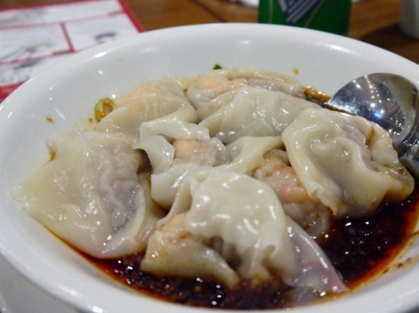 spicy prawn dumplings at din tai fung taipei 101