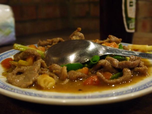 stir fried pork at taipei shin gu shiang