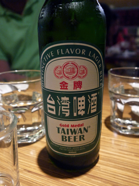 taiwan beer at kiki taipei