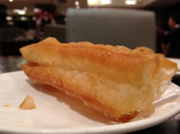 deep fried dough stick that comes with the almond milk at shin yeh