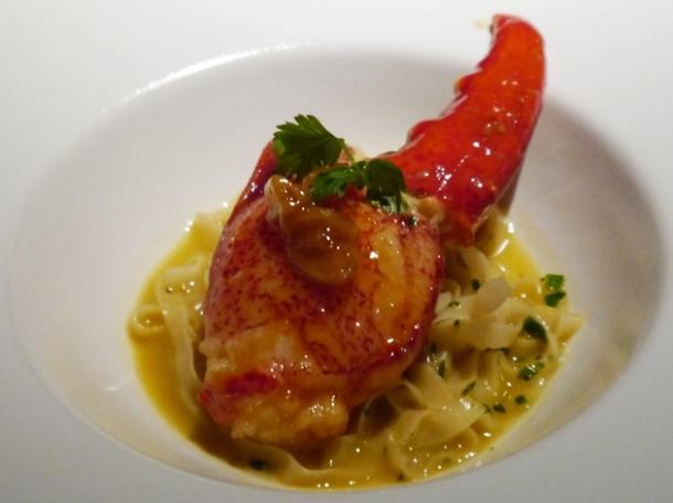 lobster egg noodles at hkk