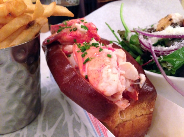lobster roll at burger and lobster soho