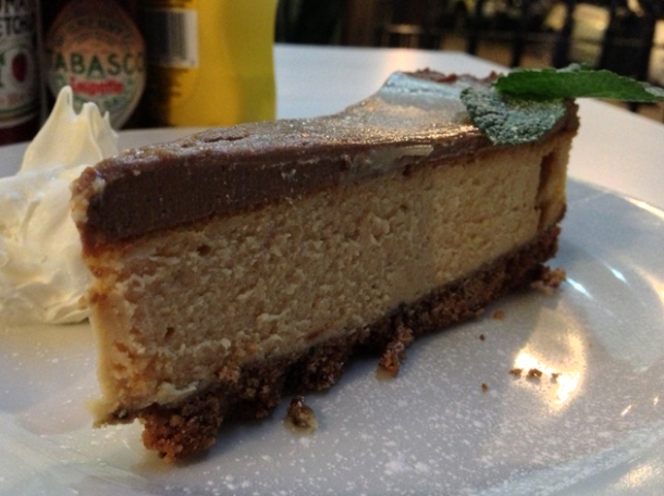 peanut butter cheesecake at burger and shake