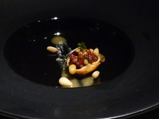pescatarian amuse bouche at hkk
