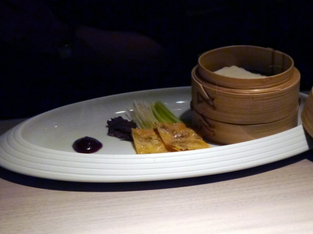 vegetarian duck pancakes at hkk