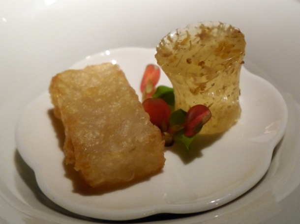 water chestnut cake at hkk