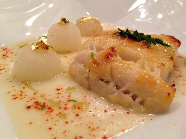 black cod at la cuisine de joel robuchon