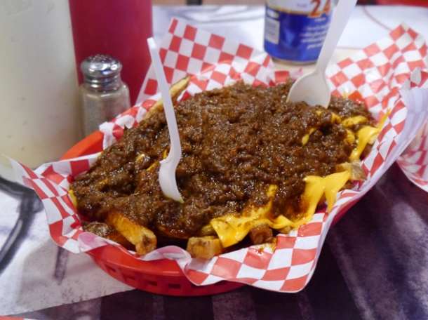 chilli fries at heart attack grill