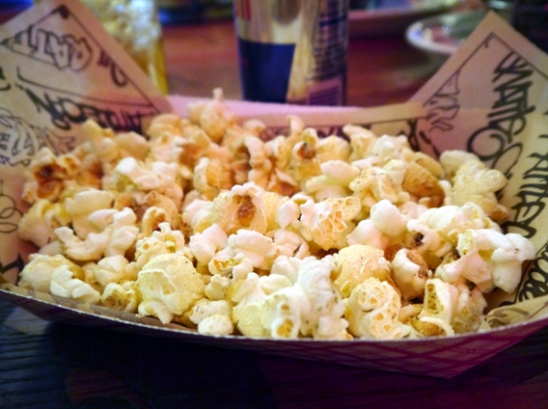 dill pickle popcorn at rattlecan