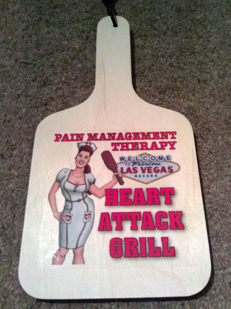 heart attack grill spank paddle