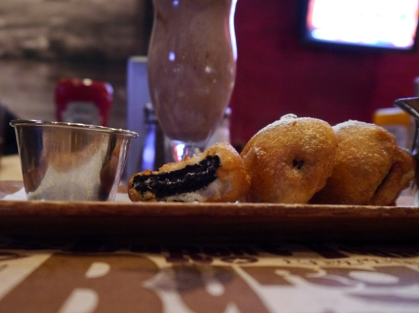 interior deep fried oreos at blt burger
