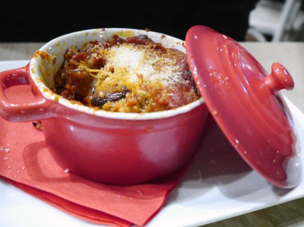 parmigiana baked aubergines at rossopomodoro