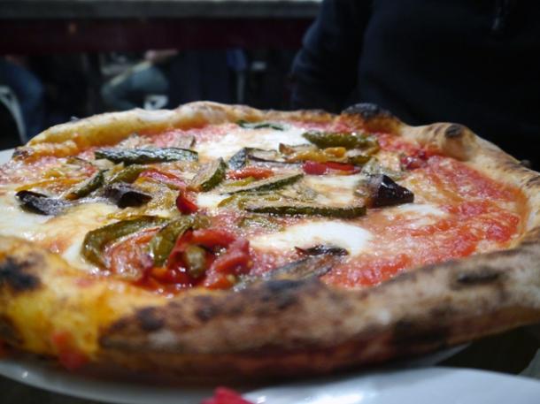 verduretta aubergine pizza at rossopomodoro