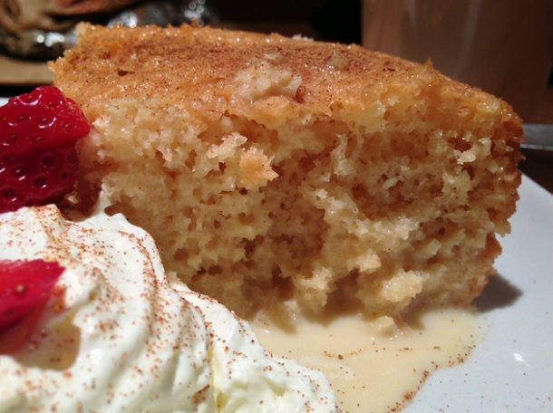 tres leche cake at benitos hat
