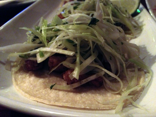 sea bass tacos at boho mexica