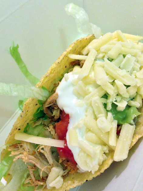 chicken taco at burrito bros