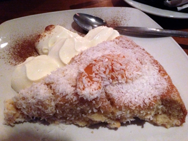 coconut sponge cake at cafe chula