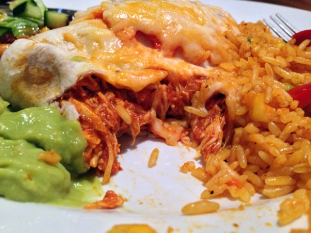 chico bandito's chicken burrito