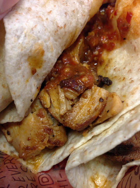 chicken taco at chipotle