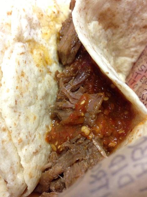 pork taco at chipotle