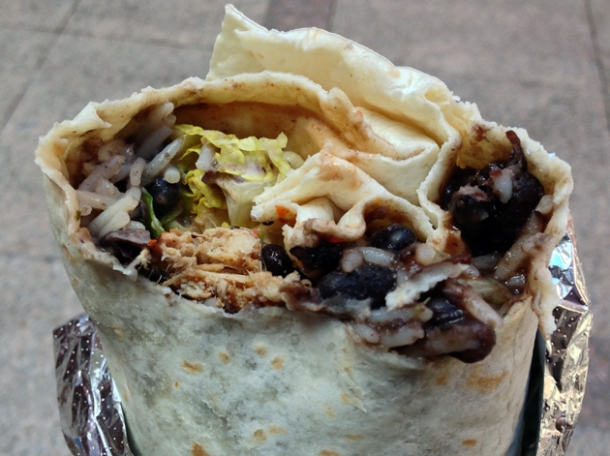pork burrito at daddy donkey