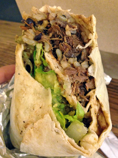 beef brisket burrito from freebird