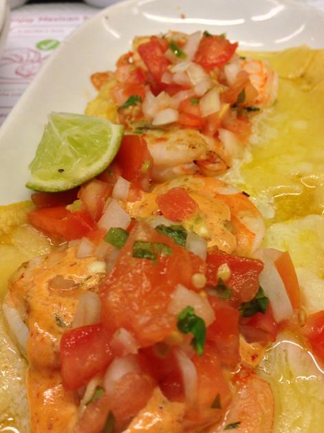 prawn tacos at lupita