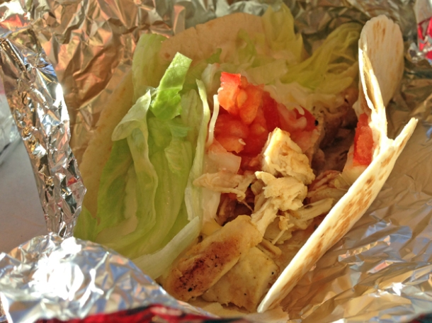 chicken taco from mexican express