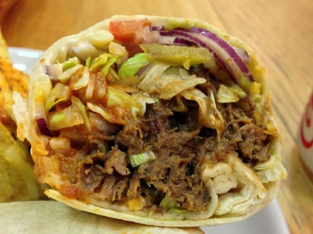 braised beef burrito from tacolisa