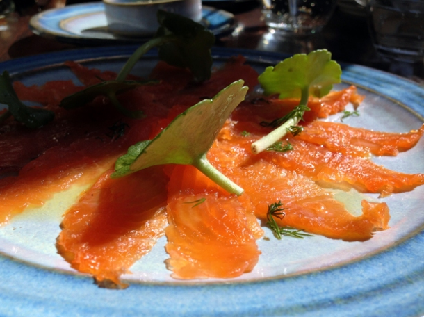 cured trout at newman street tavern