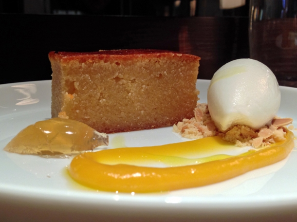 honey almond sponge at social eating house