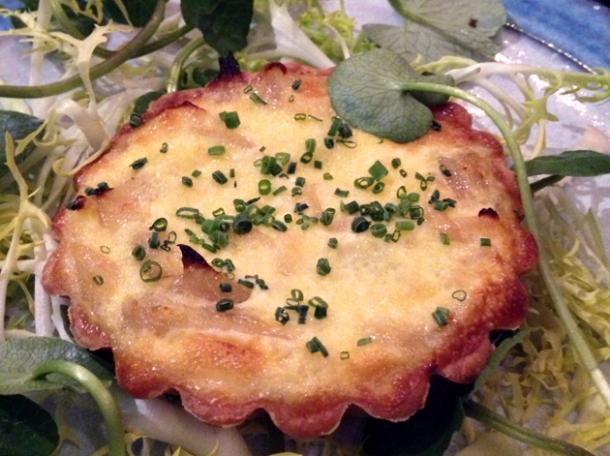 onion tart at newman street tavern