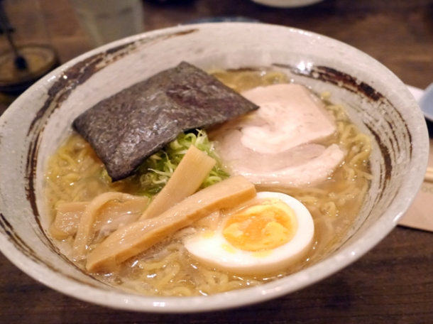 shio ramen at kirazu