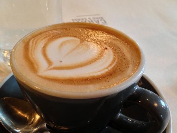 flat white coffee at caravan kings cross