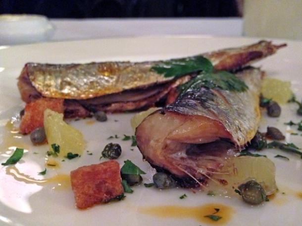 grilled sardines at les deux salons