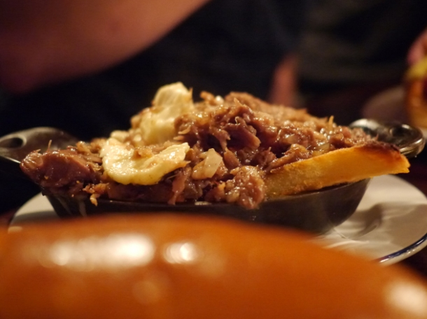 poutine at at hawksmoor spitalfields bar