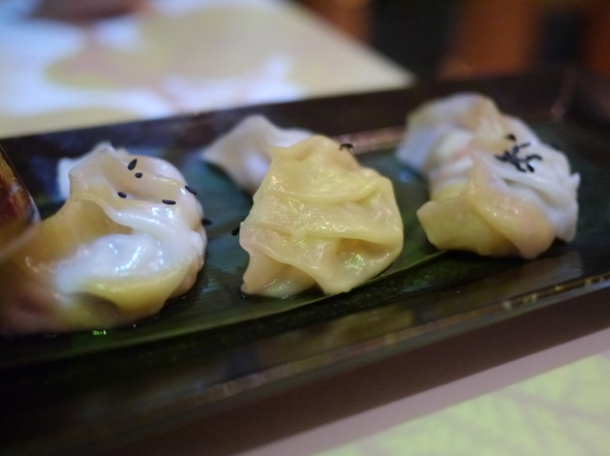 squid dumplings at inamo piccadilly