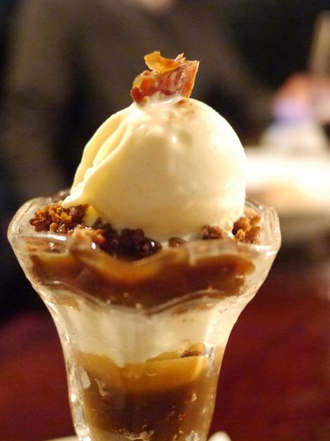sticky toffee sundae at hawksmoor spitalfields bar